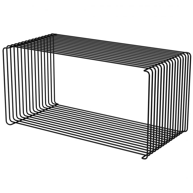 Panton Wire Extended Wire Shelf 34 8 Design Regal Schwarz Buecherregal Wandregal Metallregal Drahtregal Montana Verner Panton Tagwerc